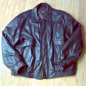 MEMBERS ONLY 🌟 Brown Leather Jacket - Vintage 🌟